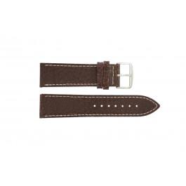 Pulseira de relógio Universal I320 Couro Marrom 24mm
