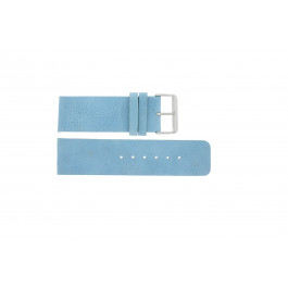 Pulseira de relógio Universal J625 Couro Azul 26mm