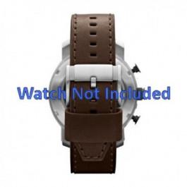 Pulseira de relógio Fossil JR1390 Couro Marrom 24mm