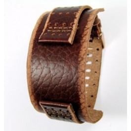 Pulseira de relógio Fossil JR9040 Couro Marrom 22mm