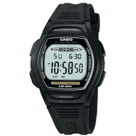 Pulseira de relógio Casio LW-201 Plástico Preto 15mm