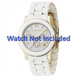 Pulseira de relógio Michael Kors MK5145 Aço Branco 20mm