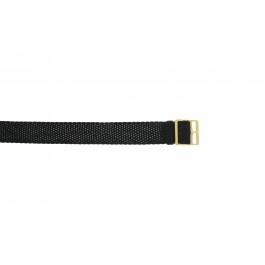 Pulseira de relógio Universal PRLN.14 Nylon/pérola Preto 14mm