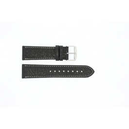 Pulseira de relógio Universal 307.01 XL Couro Preto 22mm