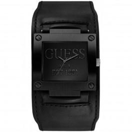 Pulseira de relógio Guess W0418G3 / W1166G2 Couro Preto 19mm