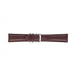 Morellato pulseira de relogio Wide U4026A37034CR28 / PMU034WIDE28 Couro liso Castanho escuro 28mm + costura padrão