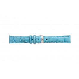 Morellato pulseira de relogio Bolle X2269480168CR24 / PMX168BOLLE24 Couro croco Azul claro 24mm + costura padrão