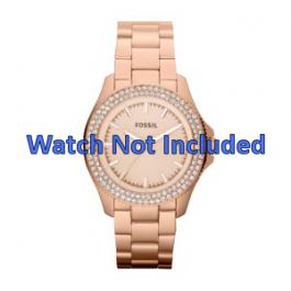 Pulseira de relógio Fossil AM4454 Aço Vinho rosé 18mm