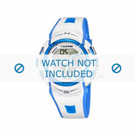 Calypso pulseira de relogio K5610.2 Borracha / plástico Branco