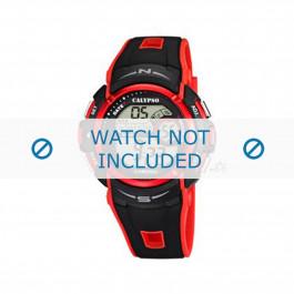 Pulseira de relógio Calypso K5610.5 Borracha Vermelho 22mm