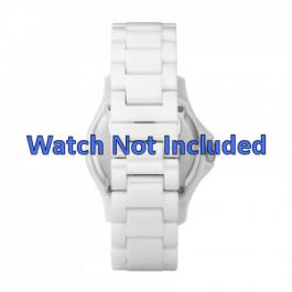 Fossil pulseira de relogio CE1010 Cerâmica Branco 20mm