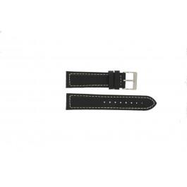 Pulseira de relógio Davis BB1020 Couro Preto 22mm