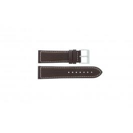 Pulseira de relógio Davis BB0453 Couro Marrom 24mm