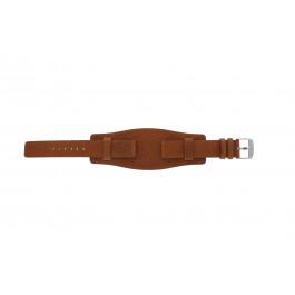 Pulseira de relógio Universal B0222 Couro Marrom 20mm