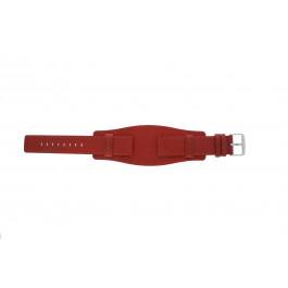 Pulseira de relógio Universal B0223 Couro Vermelho 20mm