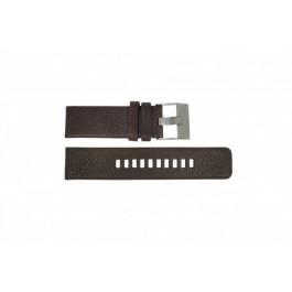 Pulseira de relógio Diesel DZ1467 / Screw+Springbar Couro Marrom 24mm