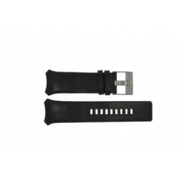 Pulseira de relógio Diesel DZ3034 / DZ3035 Couro Preto 32mm