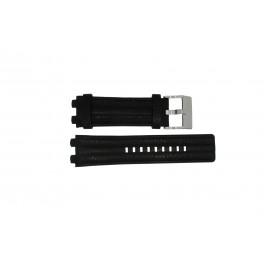 Pulseira de relógio Diesel DZ4118 / DZ4119 Couro Preto 20mm