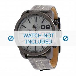 Diesel pulseira de relogio DZ4285 Textil Cinza 26mm + costura cinza