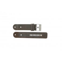 Diesel pulseira de relogio DZ9004 Couro Preto 36mm