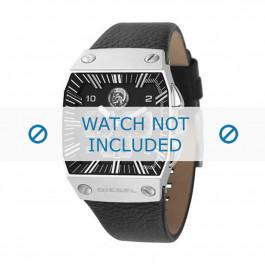 Diesel pulseira de relógio DZ9013 Couro Preto 30mm