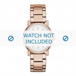 DKNY pulseira de relogio NY2344 Metal Vinho rosé 18mm