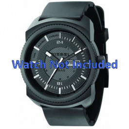 Pulseira de relógio Diesel DZ1262 Borracha Preto 26mm