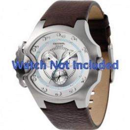 Pulseira de relógio Diesel DZ4132 Couro Marrom 17mm