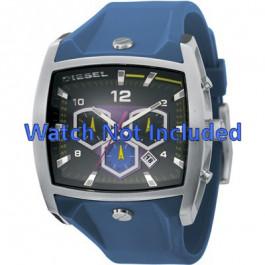 Diesel pulseira de relogio DZ4164 Silicone Azul 28mm