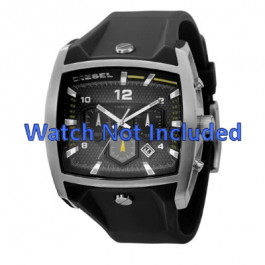 Pulseira de relógio Diesel DZ4165 Silicone Preto 33mm