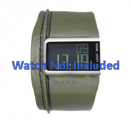 Pulseira de relógio Diesel DZ7053 Couro Verde 28mm