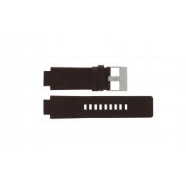 Pulseira de relógio Diesel DZ1123 Couro Marrom 18mm