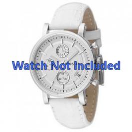 Pulseira de relógio Fossil ES2202 Couro Branco 18mm