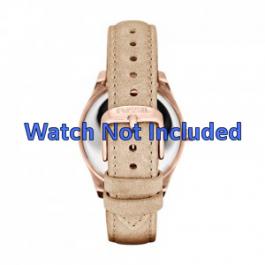Pulseira de relógio Fossil ES3104 Couro Bege 18mm
