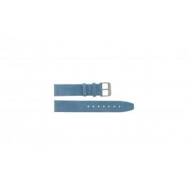 Bracelete em pele genuína azul selado 22mm G-33