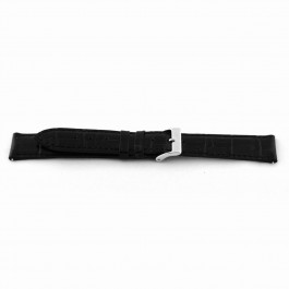 Pulseira de relógio Universal F015-XL Couro Preto 18mm