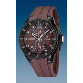 Pulseira de relógio Festina F16612-2 / F16611-2 Borracha Marrom 18mm