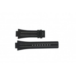 Pulseira de relógio Festina F16185-1 / F16295-2 Couro Preto 16mm