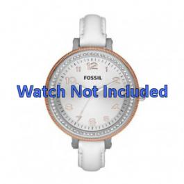 Pulseira de relógio Fossil AM4362 Couro Branco 16mm
