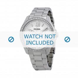Fossil pulseira de relógio AM-4481 Aço Prata 20mm