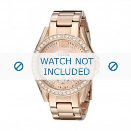 Pulseira de relógio Fossil ES2811 / 25XXXX Aço Rosado 18mm