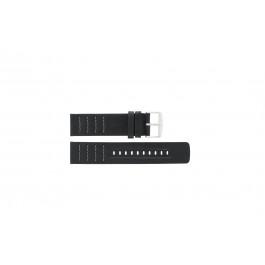 Pulseira de relógio Fossil CH2493 / CH2494 Couro Preto 22mm