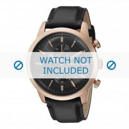 Fossil pulseira de relógio FS-5097 Couro Preto 24mm
