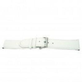 Pulseira de relógio Universal I505 Couro Branco 24mm