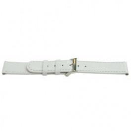 Pulseira de relógio Universal C500 Couro Branco 12mm