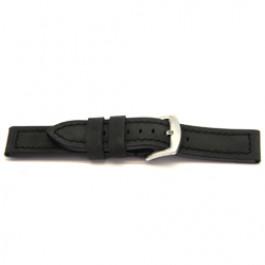 Pulseira de relógio Universal H103 Couro Preto 22mm