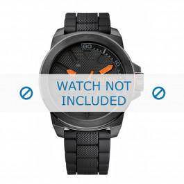Hugo Boss pulseira de relogio HO1513004 / HB-221-1-34-2625 Borracha Preto 24mm