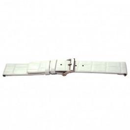 Pulseira de relógio Universal I520 Couro croco Branco 24mm