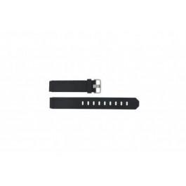 Pulseira de relógio Jacob Jensen 732 / 731 Borracha Preto 17mm