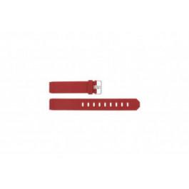 Pulseira de relógio Jacob Jensen 700 / 751 / 756 / 761 / 766 Borracha Vermelho 17mm